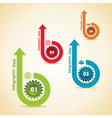 Creative gears Info-graphics option banner vector image vector image