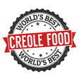 creole food grunge rubber stamp vector image vector image