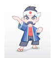 cute style adult japanese merchant vector image vector image