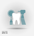 dental tools logo vector image vector image