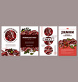 design meat cards posters labels or tags vector image vector image
