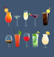 Drinks Glasses Set vector image vector image