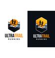 emblem outdoor ultra trail running logo set vector image