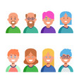 flat design icons collection people avatars vector image vector image