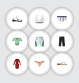 flat icon clothes set of trunks cloth casual vector image vector image
