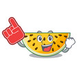 foam finger ripe yellow watermelon isolated on vector image