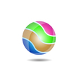 Glossy Ball Logo Icon vector image vector image