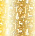 gold christmas pattern vector image vector image