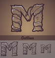 Halloween decorative alphabet - M letter vector image vector image