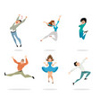 happy and expressive people vector image vector image