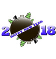 happy new year 2018 and hockey vector image