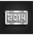Happy New Year background with a metallic design vector image vector image