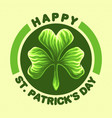happy st patricks day logo vector image vector image