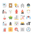 industrial and construction flat icons set vector image