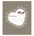 Lace heart shape card vector image