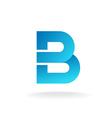 Letter B logo template Construction building vector image