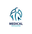 medical business company logo vector image
