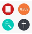 modern religion colorful icons set vector image