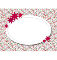 Oval frame for text with flowers vector image vector image