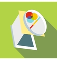 Palette icon flat style vector image vector image