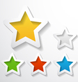 paper stars vector image