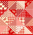 patchwork geometric pattern seamless quilting vector image vector image