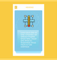 pencil scale mobile vertical banner design design vector image