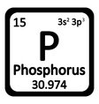 Periodic table element phosphorus icon vector image vector image
