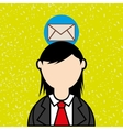 person and letter design vector image