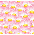pink indian lotus seamless background vector image