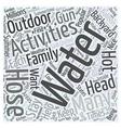 Popular Water Activities for the Backyard Word vector image vector image