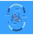 presentation company professional team vector image