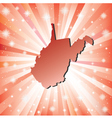 Red West Virginia vector image vector image