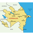 Republic of Azerbaijan - map vector image vector image
