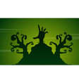 scary landscape with zombie on halloween vector image vector image