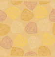 scattered autumn leaves seamless background vector image vector image