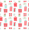 seamless pattern with gift boxes christmas vector image vector image