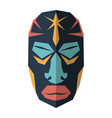 set of african ethnic tribal masks on white vector image vector image