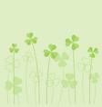 shamrock or clover background vector image