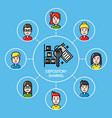 shared depository concept with group of people vector image vector image