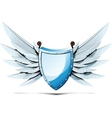 shield with wings swords vector image