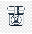 side up concept linear icon isolated on vector image