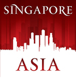 Singapore Asia city skyline silhouette vector image vector image