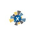 sound service production letter x vector image
