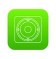 speaker icon green vector image vector image