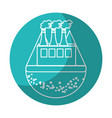 sticker pollution factory contaminating the vector image vector image