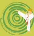 The the boy is engaged in karate vector image