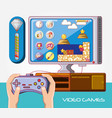 video game control icons vector image