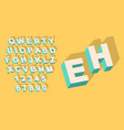 vintage type alphabet with 3d threedimentional vector image vector image