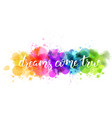 watercolor imitation splash blot vector image vector image
